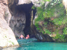 Walking in canyons on crete